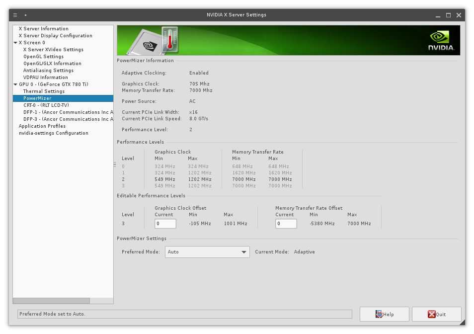 Nvidia X Server Settings - how to enable overclocking & fan control