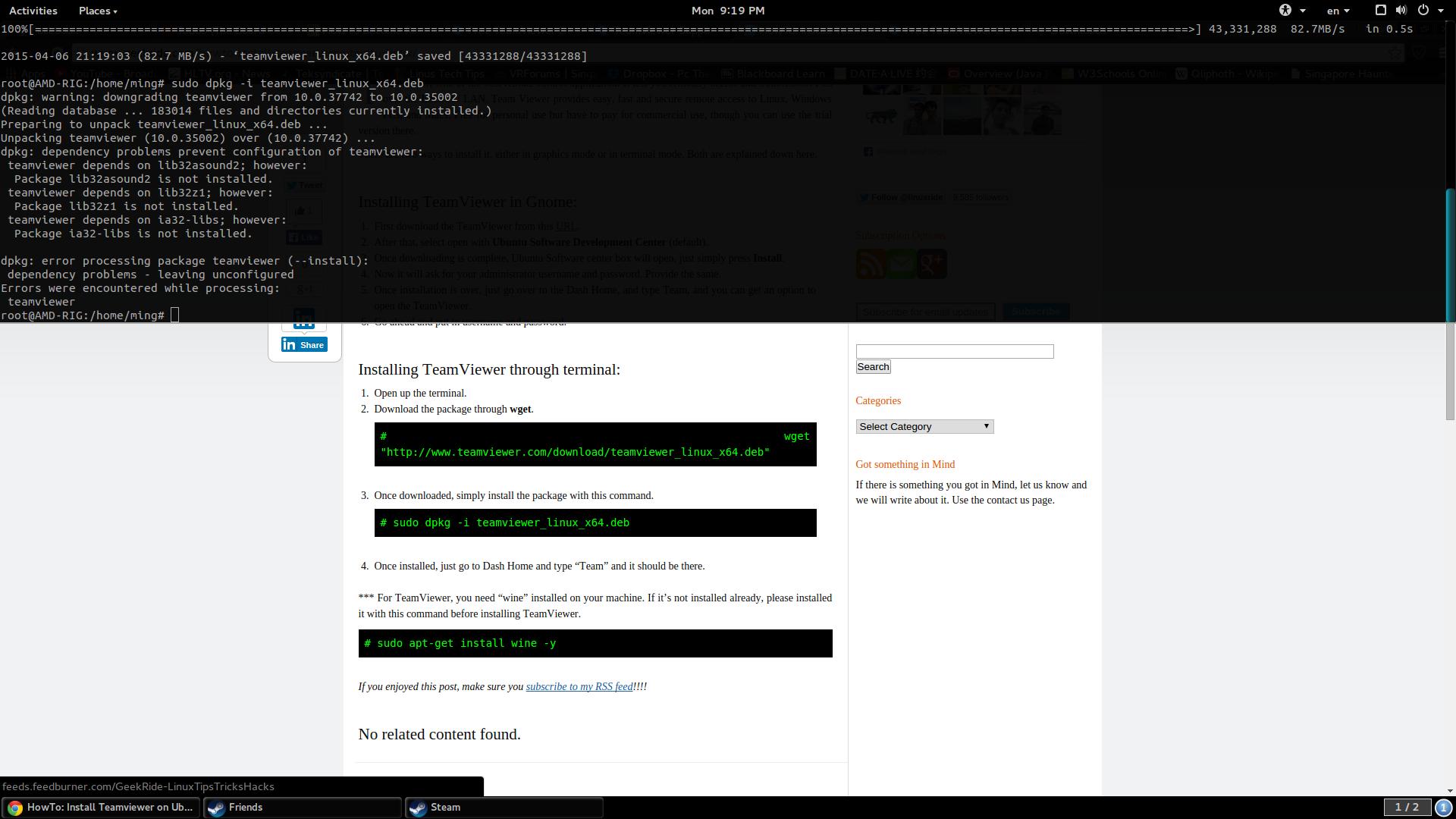 Solved) TeamViewer Installation Problem - Linux - Level1Techs Forums