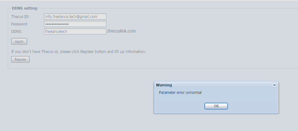 Thecus N7510 owncloud setup - Networking Software