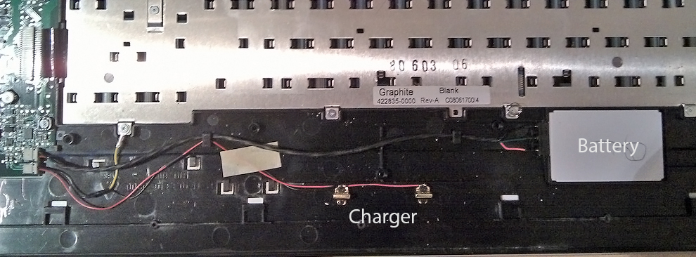 Logitech diNovo Edge Wireless Keyboard Battery Replacement (Hacking