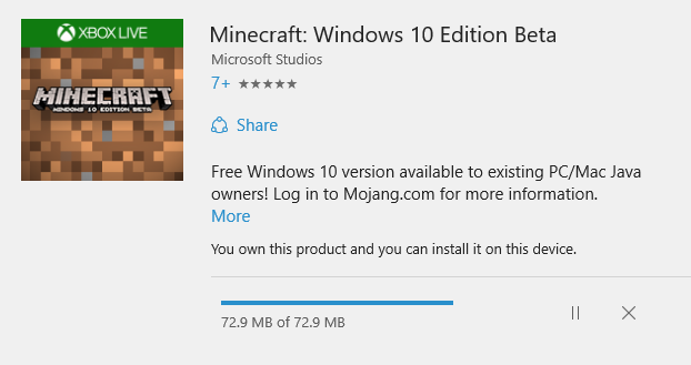 Minecraft Windows 10 Beta Available To Download For Free If
