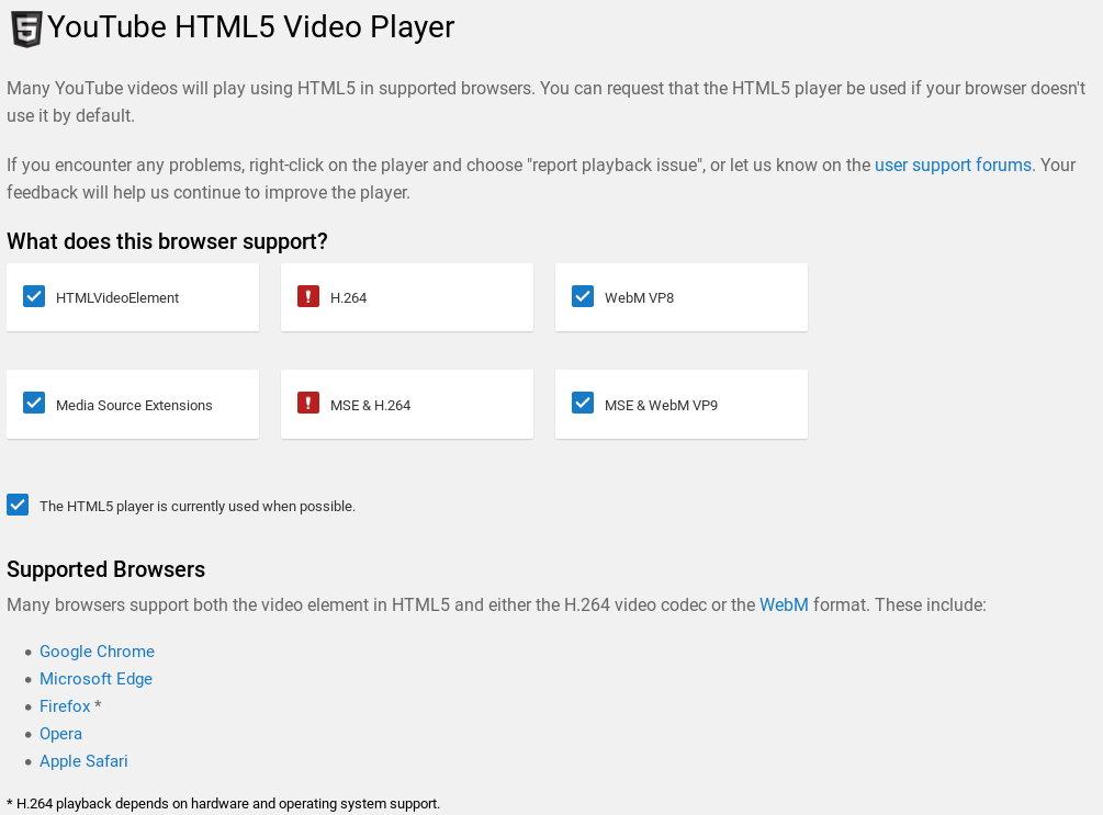 Help] HTML5 Youtube Suppot in Fedora - Linux - Level1Techs