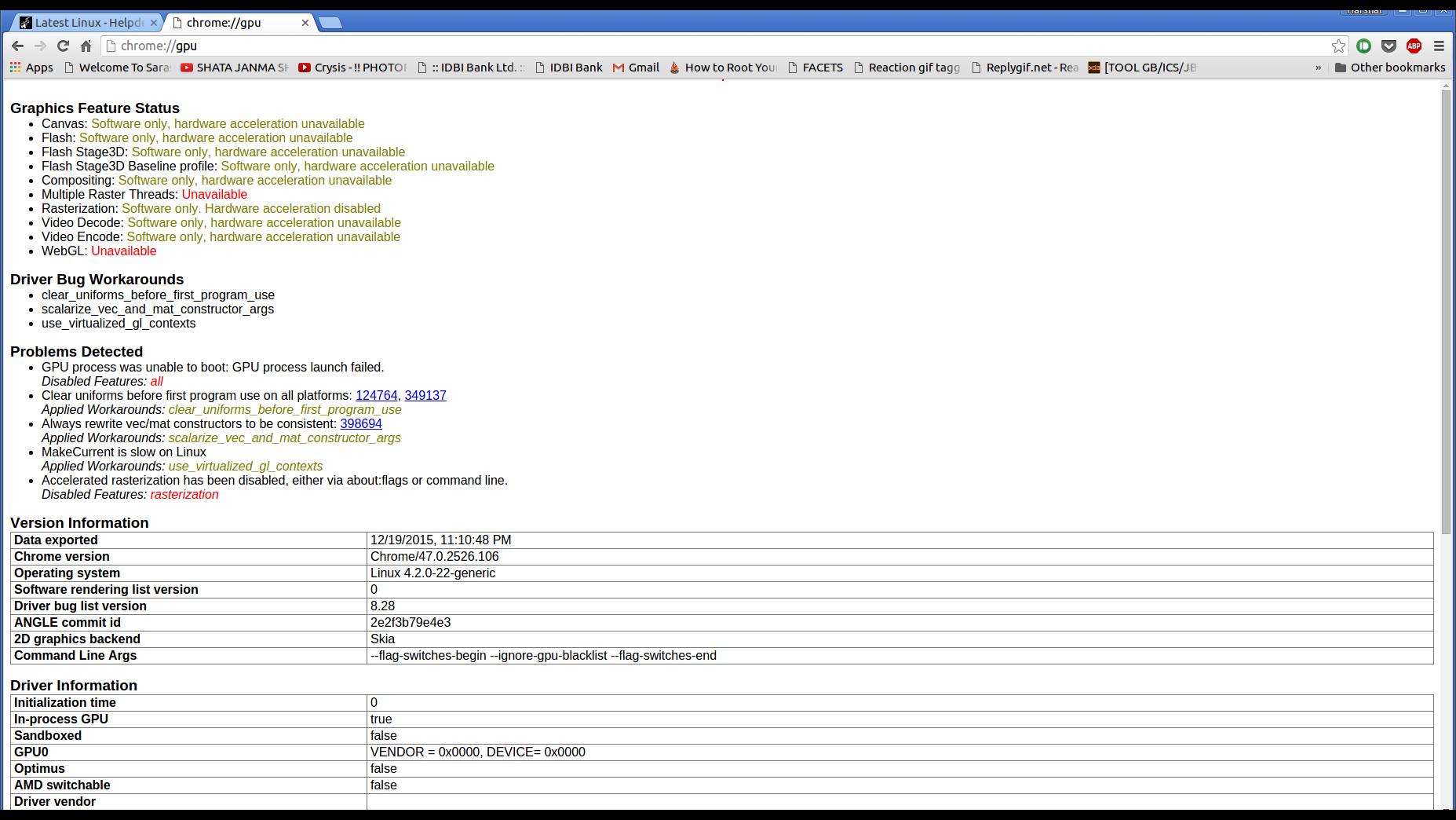 Ubuntu 15 10- Chrome cant use the GPU(Solved) - Linux - Level1Techs