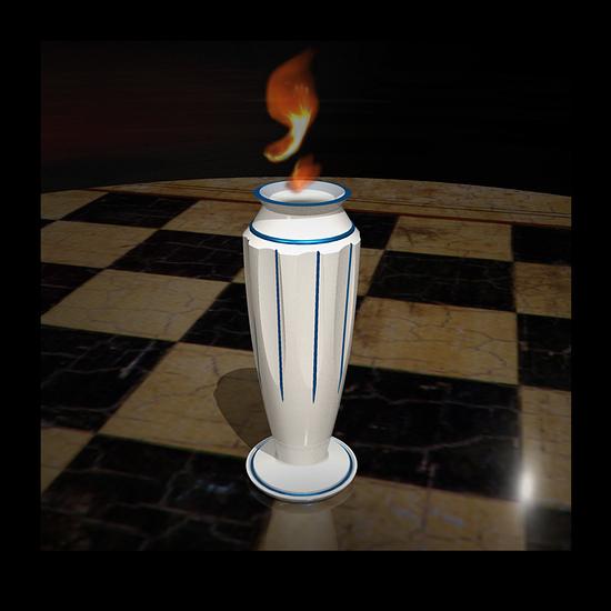mini Greek Flame Vase