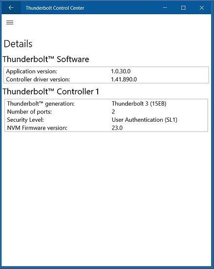 ThunderboltSoftware screenshot NVM23