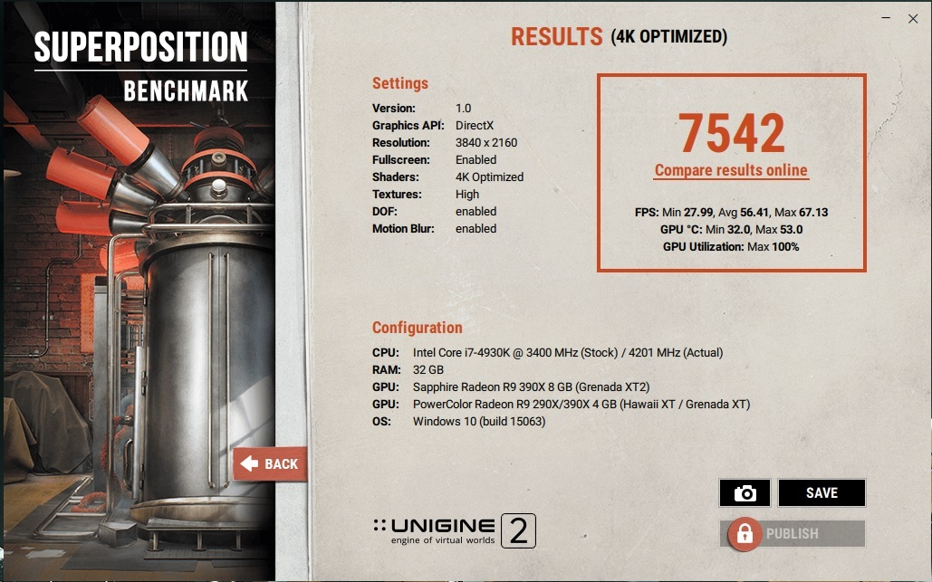 UNIGINE: Superposition benchmark - Software & Operating Systems