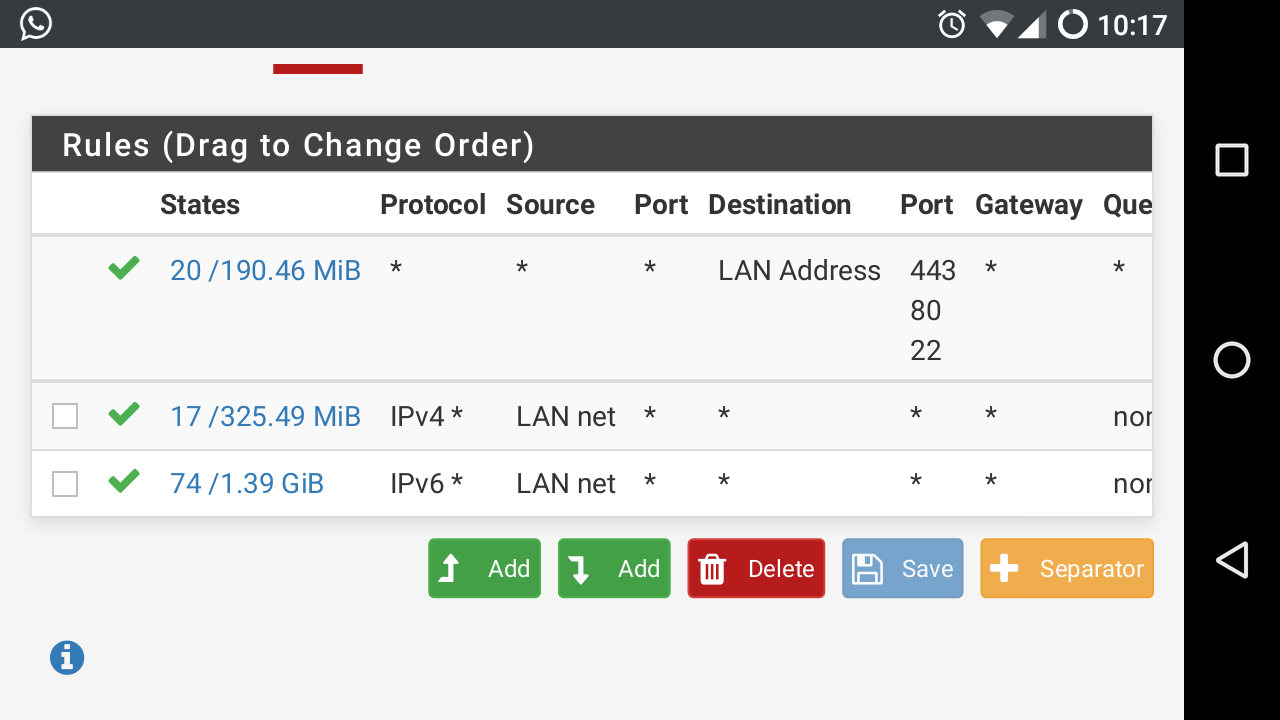 PFsense refuses to properly port foward to my home server [solved