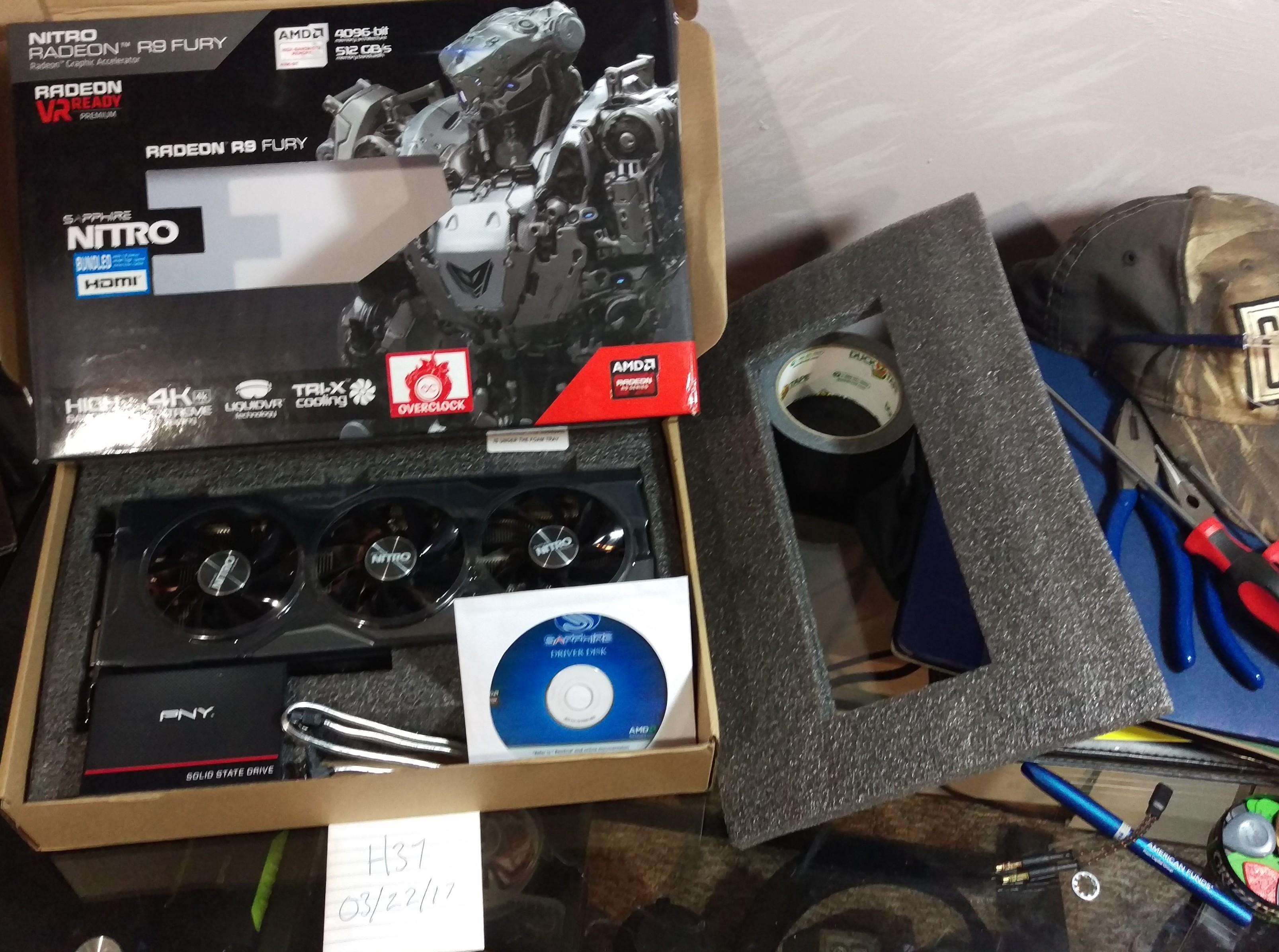 Sold Wts Gpu Ssd Bundle R9 Fury Nitro Pny 480gb Ssd Buy
