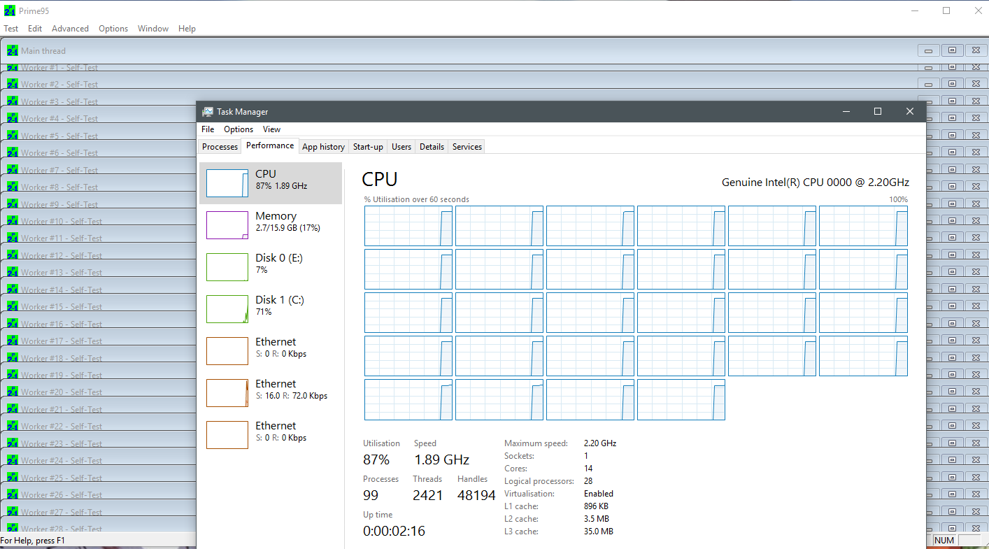 CPU Unable to run at 100% - CPU - Level1Techs Forums