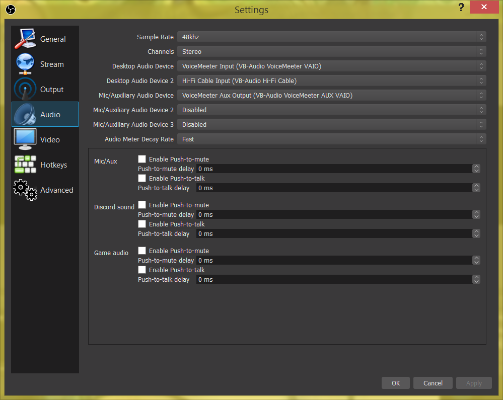 How to setup voicemeeter bannana for streaming and recording