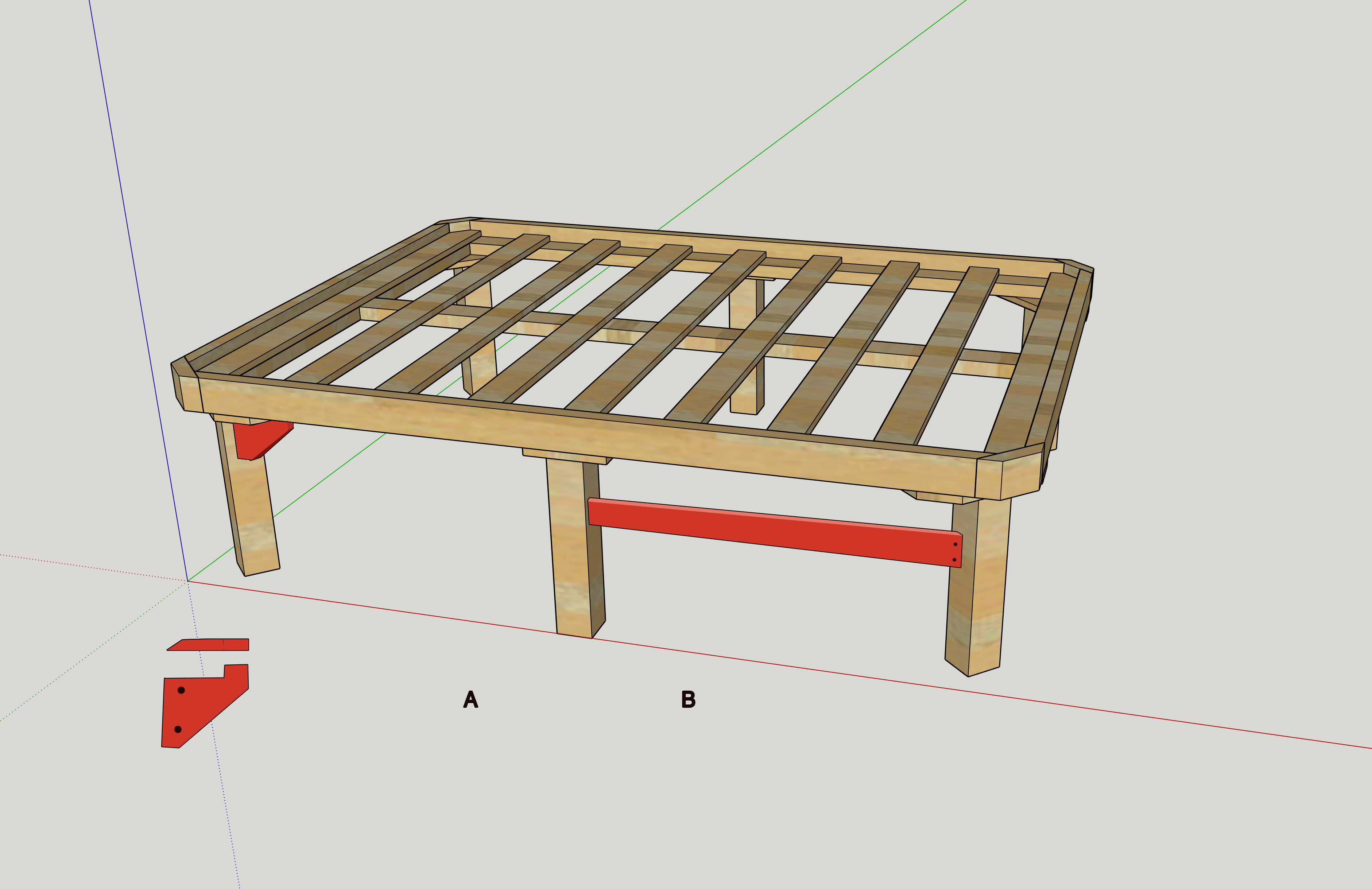 Bed frame woodworking in sketchup - Science & Engineering ...
