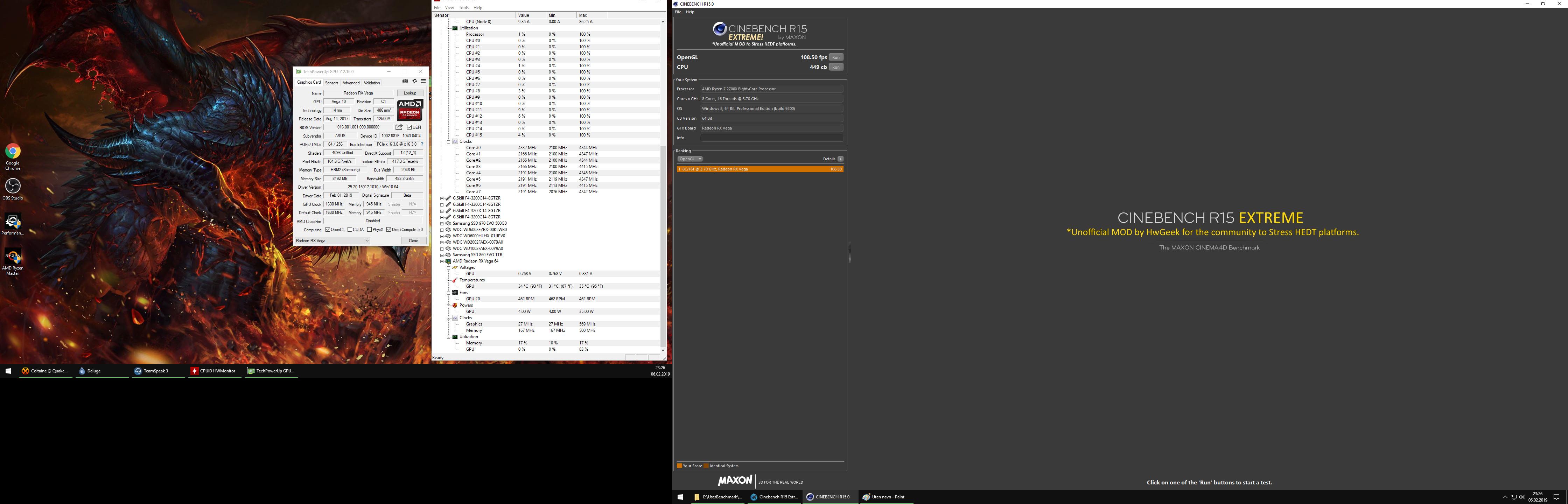Cinebench R15 Extreme! AND Cinebench R20 - Benchmarking Thread - CPU