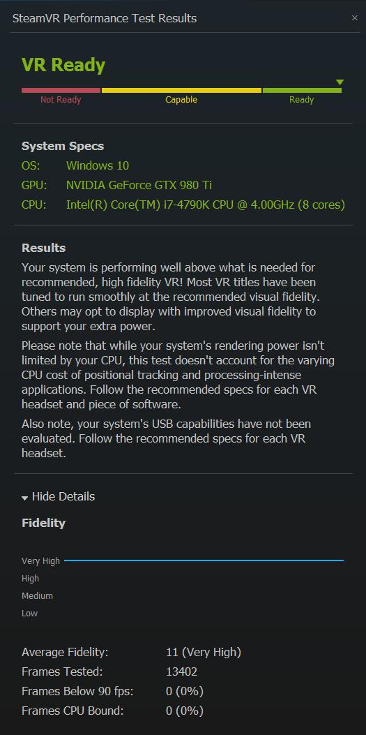 SteamVR Benchmark Thread - Build a PC - Level1Techs Forums