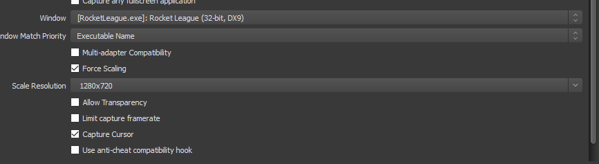Odd Thing: OBS BCast black screen @ Downscale - Linux
