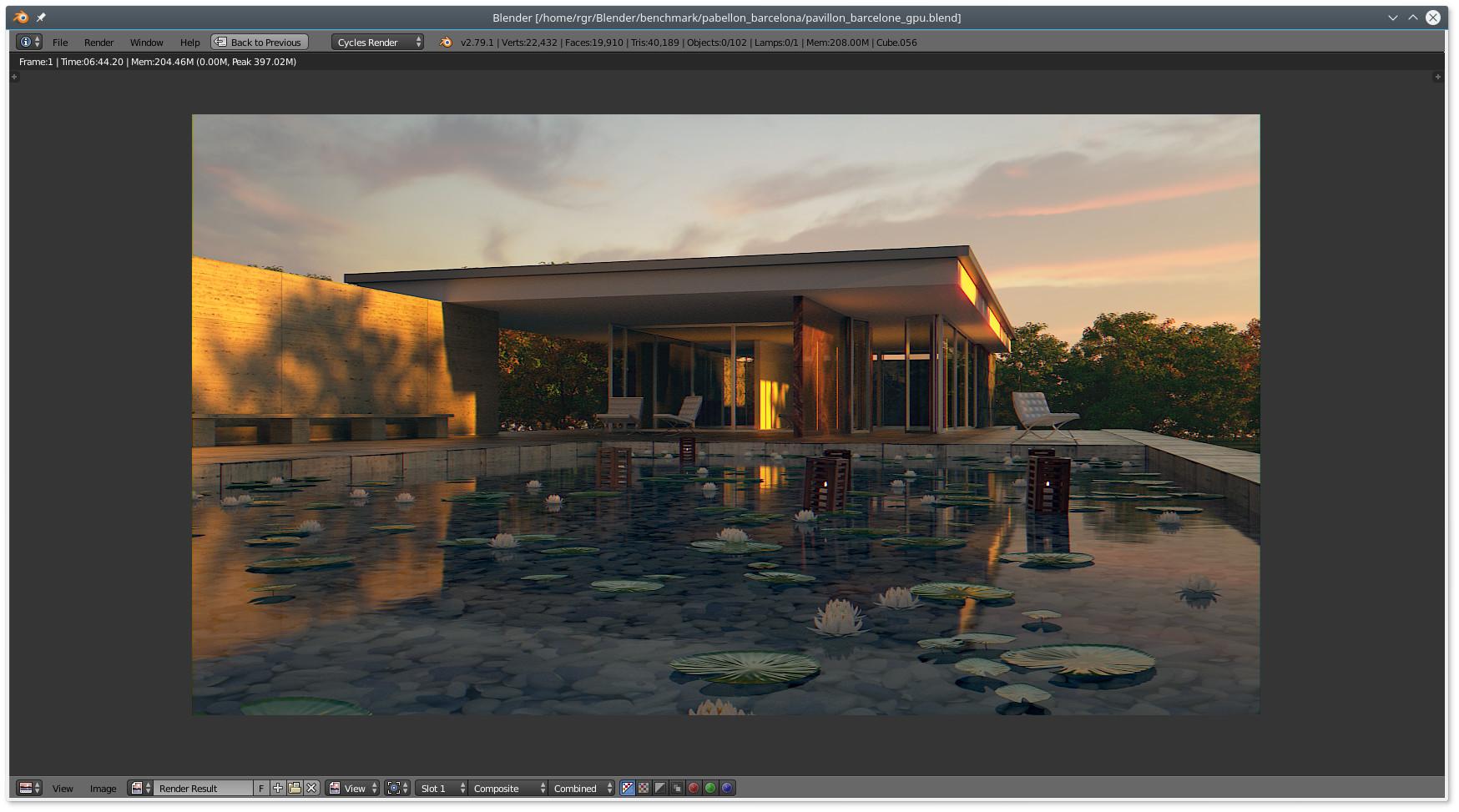 Blender Benchmarking (2x Rx580) - Open Source & Web-Based