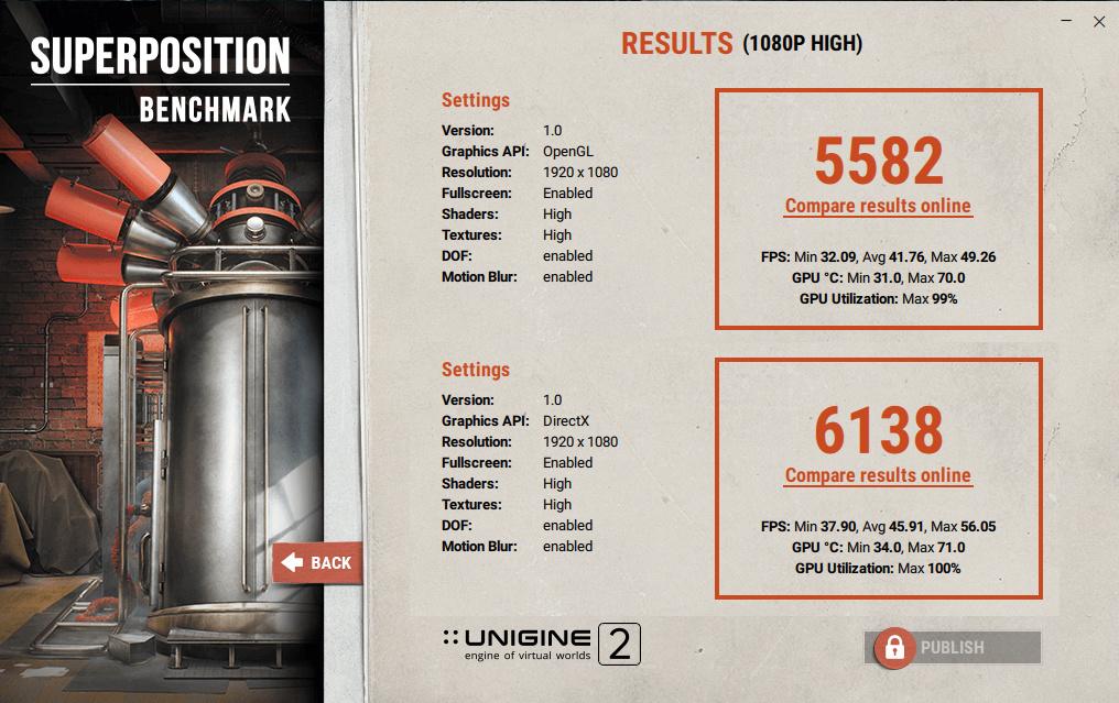 UNIGINE: Superposition benchmark - Software & Operating