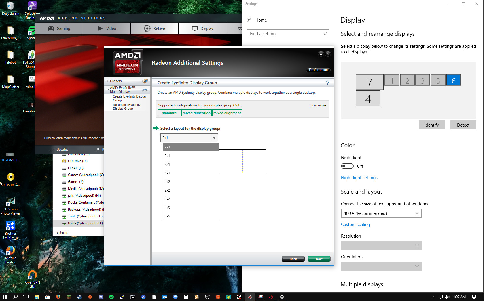 Solved] Any eyefinity users able to help? (7 display config