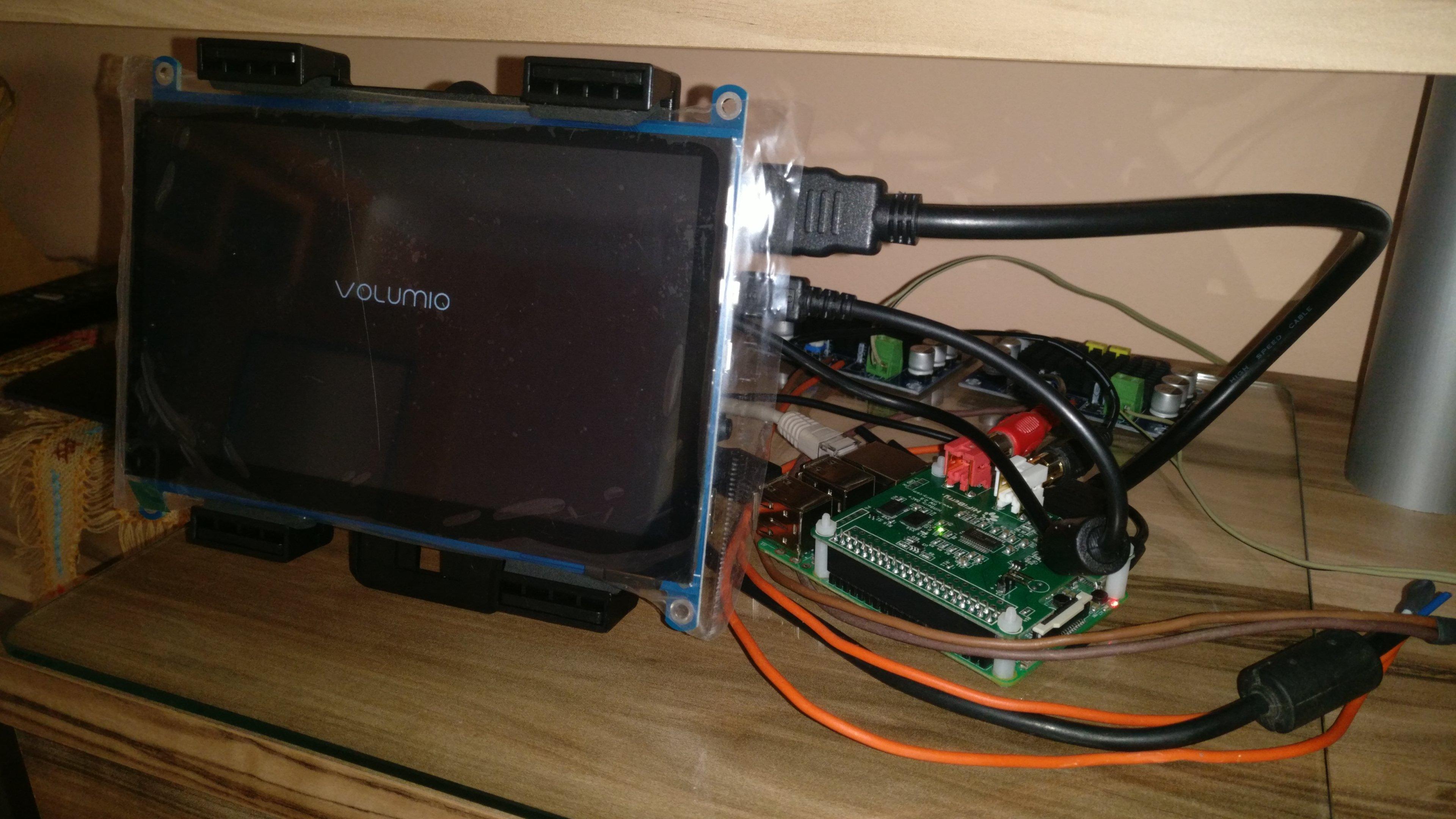 DIY radio with Raspberry Pi 3 and Volumio  In-Progress - DIY