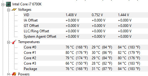 SOLVED] Big temperature fluctuation on i7-6700K @ 4 6GHz