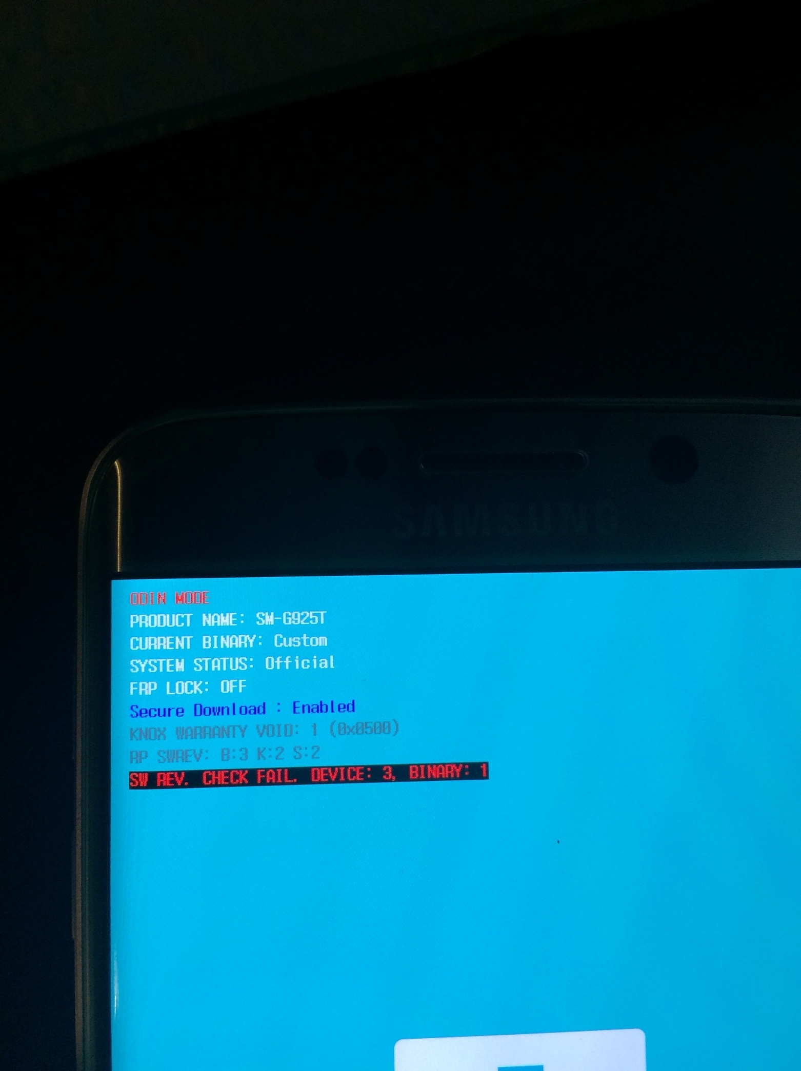 Samsung Galaxy S6 edge is stuck on boot screen saying