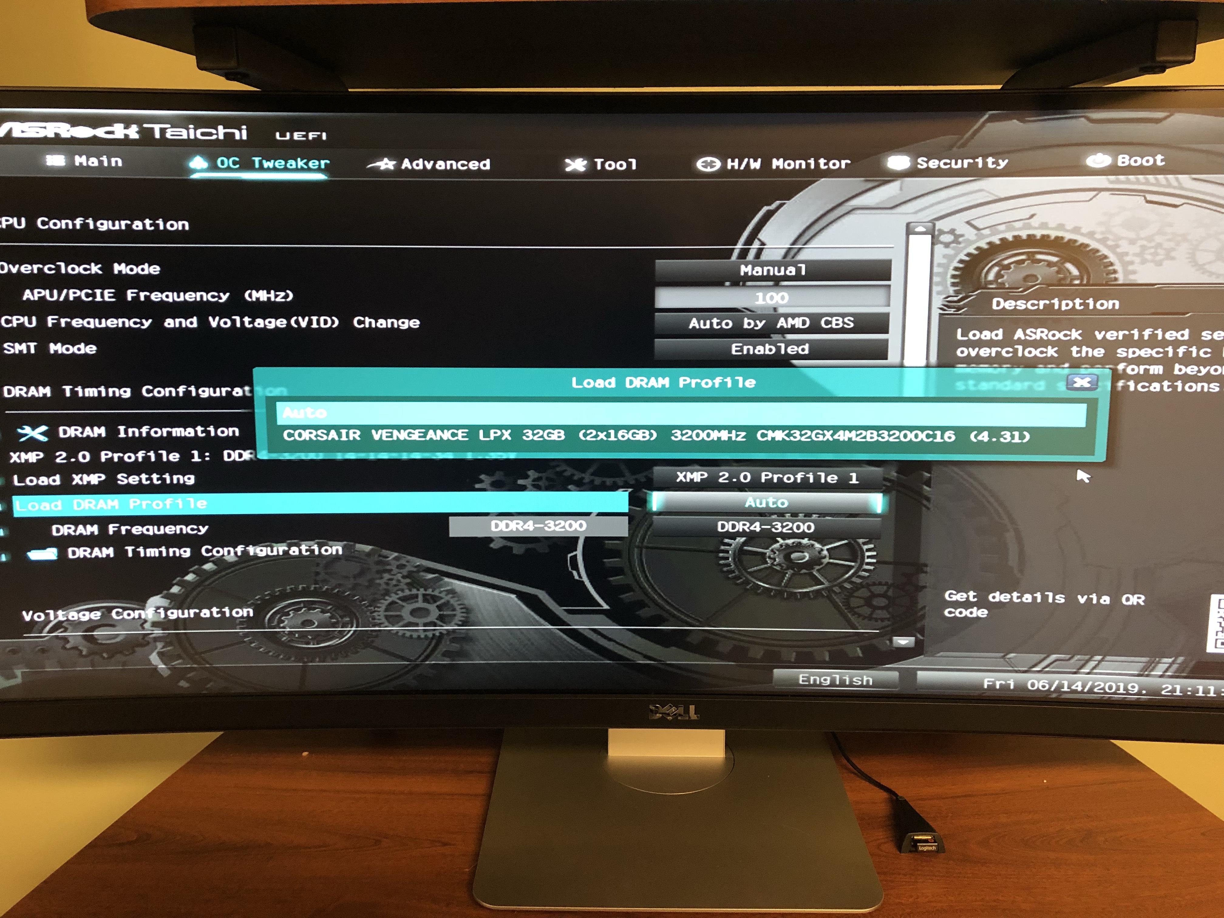 ASRock X470 Taichi and Corsair 3200 RAM compatibility
