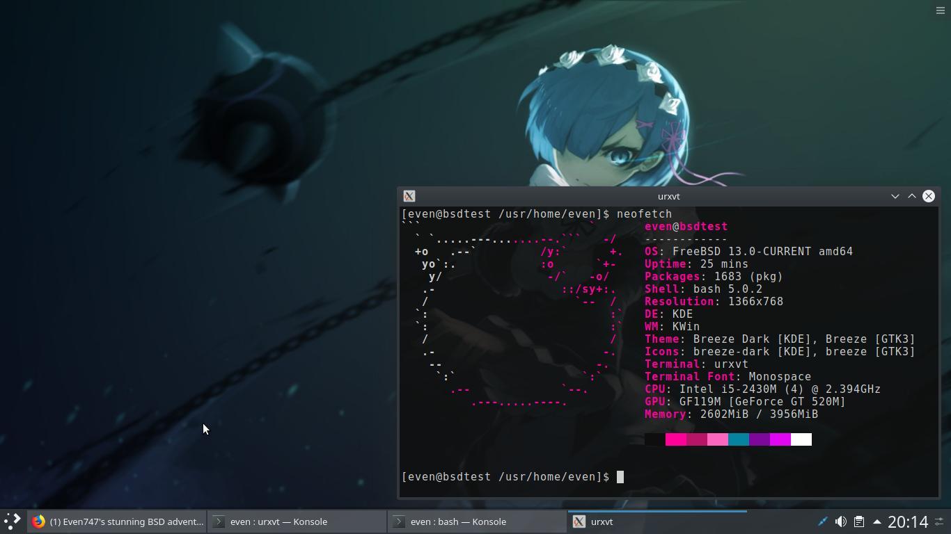 Even747's stunning BSD adventure - The BSD challenge blog