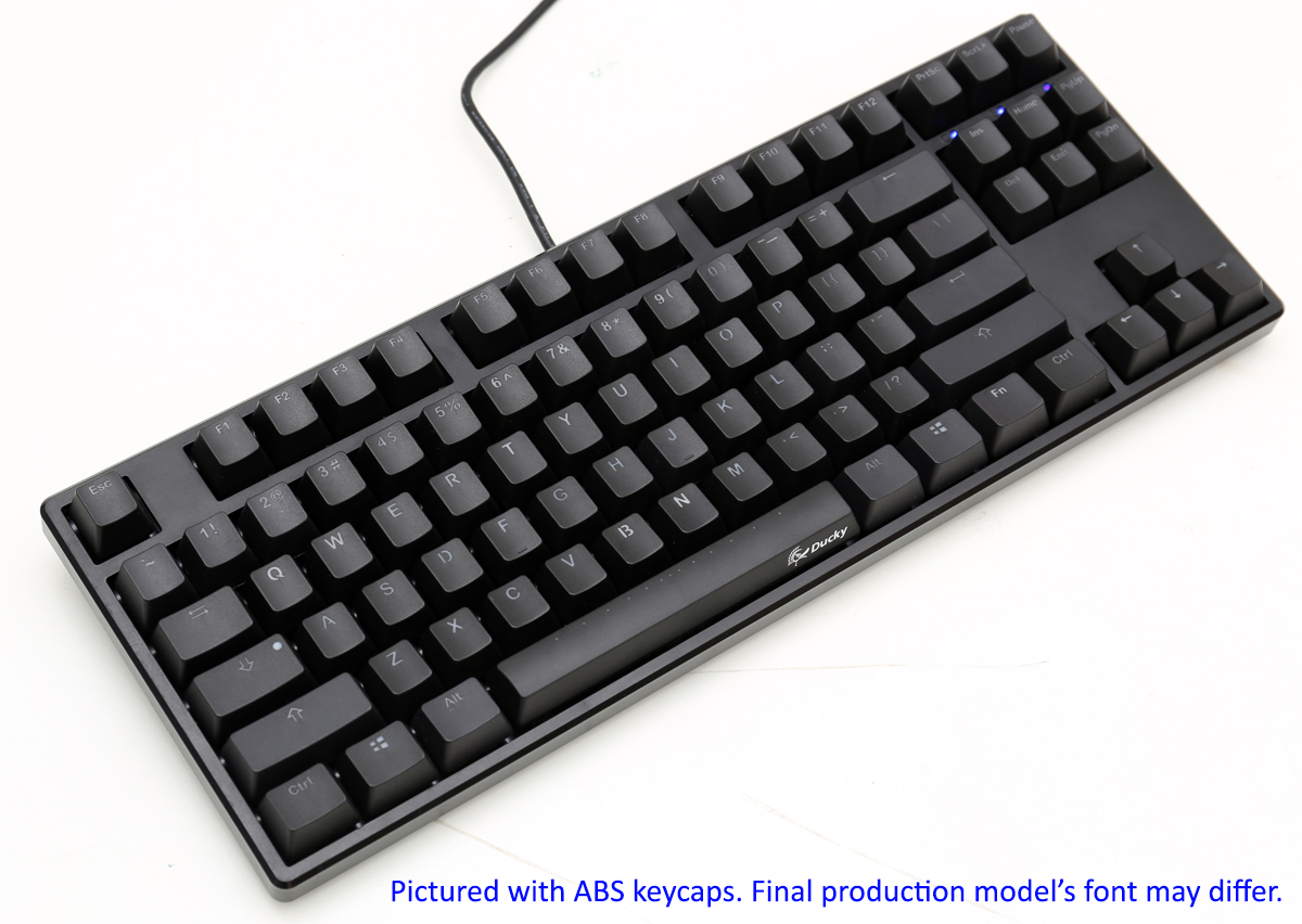 e58adf6f5b4 Ducky One TKL PBT Double Shot PBT Mechanical Keyboard with Cherry MX Brown,.