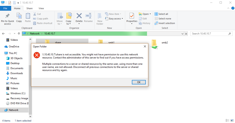 Freenas share windows 10 not working - Windows - Level1Techs