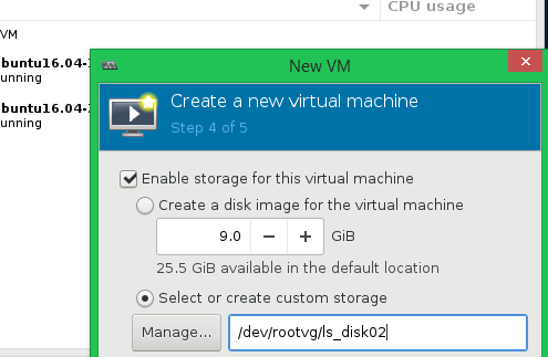 Can't setup Physical Disk storage pool through virt-manager